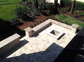 Brick paver travertine natural stone patio driveways fire pits DeLand Sanford Palm coast