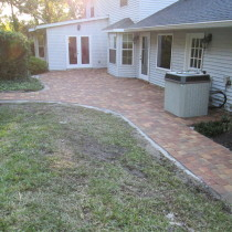 Brick paver patio Deland Sanford Palm Coast