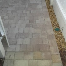 Paver patio with river rock Deland Sanford Palm Coast