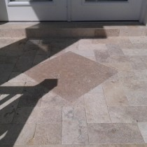 Paver porch patio diamond paver as focal point Deland Sanford Palm Coast