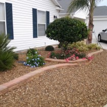 Stone boarder with rock and planting Deland Sanford Palm Coast