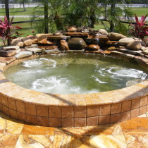 Waterfall and pool paver Deland Sanford Palm Coast