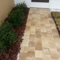 Landscape and paver sidewalk by design deland sanford palm coast